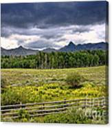 Storm Clouds Over The Rockies Canvas Print