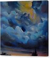 Storm Coming At The Sunset Canvas Print