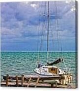 Storm Coming Caye Caulker Belize Canvas Print