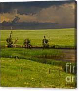 Storm Crossing Prairie 1 Canvas Print