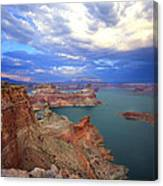 Storm In The Gunsight Canvas Print