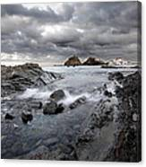 Storm Is Coming To Island Of Menorca From North Coast And Mediterranean Seems Ready To Show Power Canvas Print
