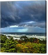 Storm On Oregon Coast Canvas Print