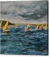 Storm On The Nile Canvas Print
