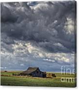 Storm Over Barn Canvas Print