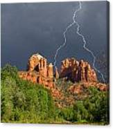 Storm Over Cathedral Rock Canvas Print