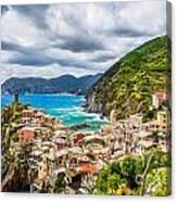 Storm Over Cinque Terre Canvas Print