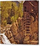 Storm Over Crystal Mill Canvas Print