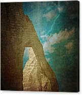 Storm Over Etretat Canvas Print
