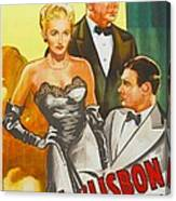 Storm Over Lisbon, Us Poster, From Left Canvas Print