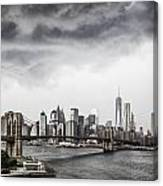 Storm Over Manhattan Canvas Print