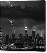 Storm Over Nyc  Canvas Print