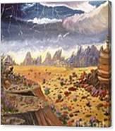 Storm Over The Desert Canvas Print