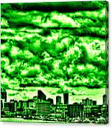 Storm Over The Emerald City Canvas Print