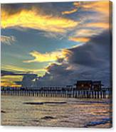 Storm Over The Pier Canvas Print
