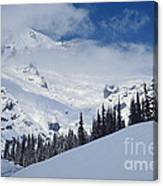 Storm Over The Summit Canvas Print