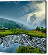 Storm Rolling In On Black Balsom Canvas Print