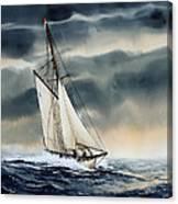Storm Sailing Canvas Print