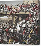 Storming Of Delhi, Engraved By T.h. Sherratt, Published By The London Printing And Publishing Canvas Print