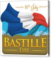 Storming Of The Bastille Representation Canvas Print