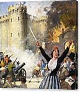 Storming The Bastille Canvas Print