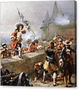 Storming The Battlements Canvas Print