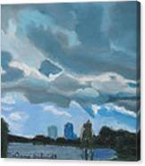Storms Rolling In Over Lake Highland In Orlando Canvas Print