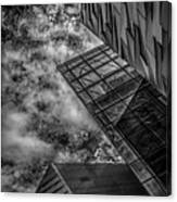 Stormy Clouds Over Modern Building Canvas Print