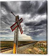 Stormy Crossing Canvas Print