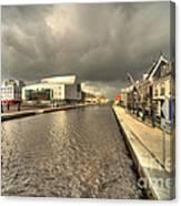 Stormy Day At Alphen Aan Den Rijn Canvas Print