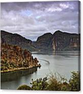 Stormy Day At The Lake  Canvas Print