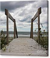 Stormy Day - Boardwalk To The Sea Canvas Print