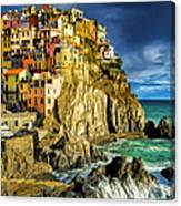 Stormy Day In Manarola - Cinque Terre Canvas Print