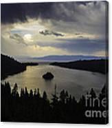 Stormy Emerald Bay Canvas Print