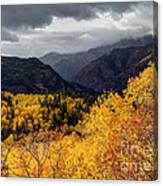 Stormy Fall Along The Alpine Loop - Utah Canvas Print