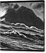 Stormy Rock Canvas Print
