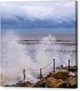 Stormy Seafront - Impressions Canvas Print