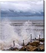 Stormy Seafront  Canvas Print