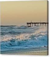 Stormy Seas Avon Pier 9 11/03 Canvas Print