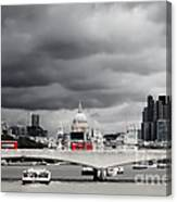 Stormy Skies Over London Canvas Print