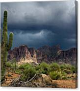 Stormy Skies Over The Superstitions Canvas Print