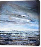 Stormy Sky  Hauxley Haven Series Blue Canvas Print