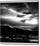Stormy Sky - Lightening - Small Town Canvas Print