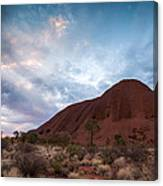 Stormy Sky Over Uluru Canvas Print