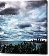 Stormy Sunrise Over Cleveland Canvas Print