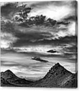 Stormy Sunset Over Nevada Desert Canvas Print