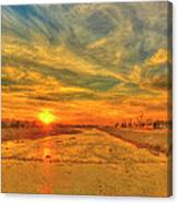 Stormy Sunset Over Santa Ana River Canvas Print
