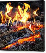 Stove - The Yule Log  Canvas Print