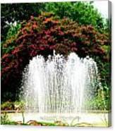 Stowe Fountain 2 Canvas Print