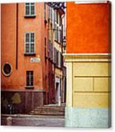 Strada Al Duomo Duomo Street Canvas Print